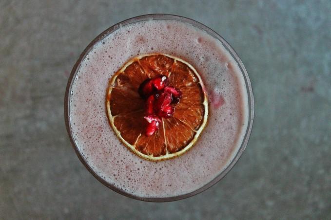 , Bourbon Pomegranate Sour