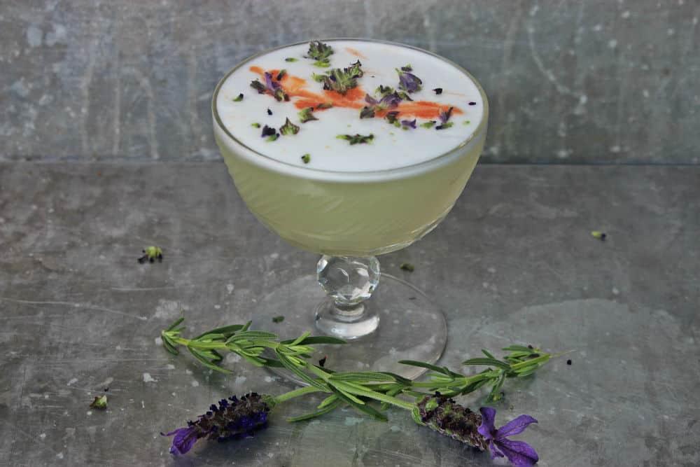 , Lavender Gin Fizz