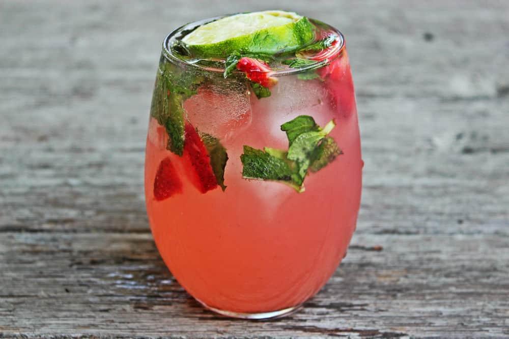 , Strawberry Rhubarb Mojito